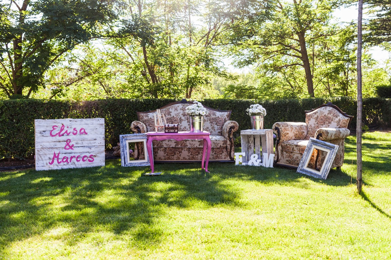 photocall con muebles vintage