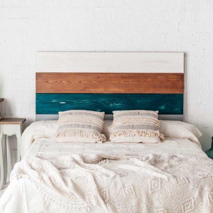 Cabecero, Cabecero de madera, dormitorio, decoración, decoración dormitorio, estilo industrial